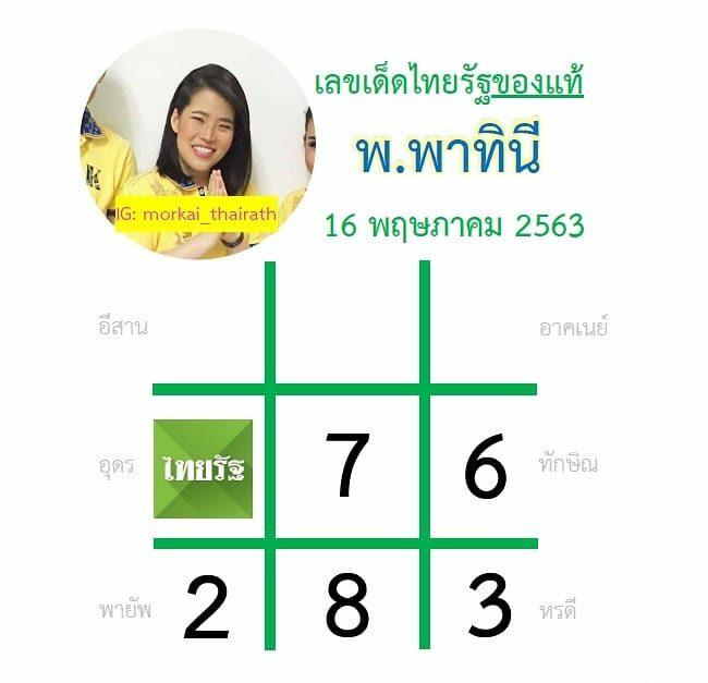 หวยไทยรัฐ 16 พ.ค. 63